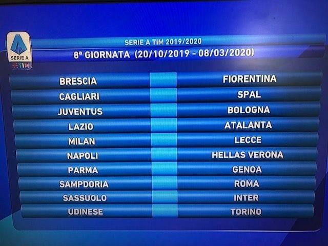 Fiera Di Brescia Calendario 2020.Serie A Calendario 2019 2020 Diretta E Tutte Le Giornate