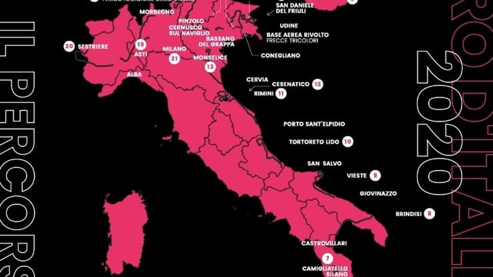 percorso giro italia 2020-2