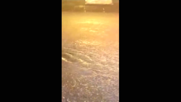 VIDEO | Via Cantore allagata, in quattro per spingere l'auto via dalla piena