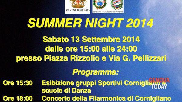 Summer Night 2014 a Cornigliano