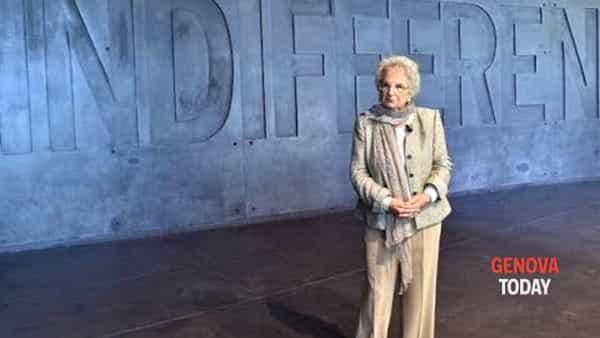 Liliana Segre a Genova per la consegna del premio Primo Levi