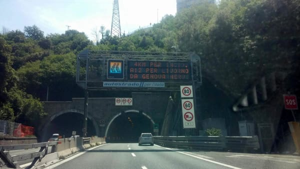 Incidente in A12, traffico in tilt tra Rapallo e Nervi