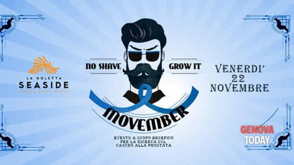Movember arriva a Genova venerdì 22 novembre alla Goletta Seaside