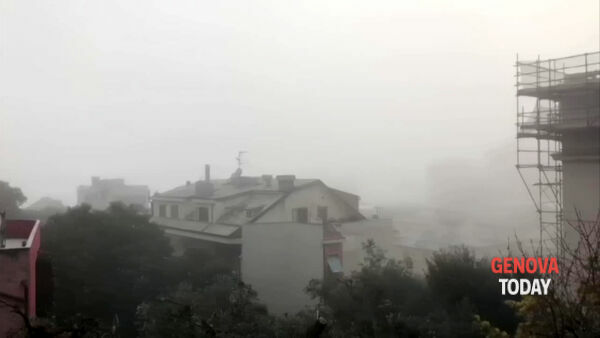 VIDEO | Caligo a Genova: il panorama coperto da una fitta nebbia