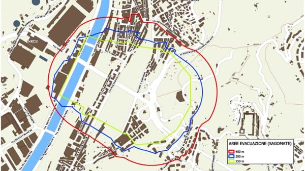 mappa piano evacuazione demolizione ponte Morandi-2