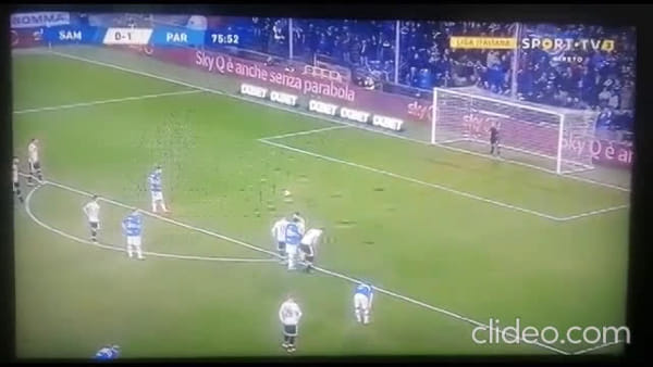 Video gol e sintesi partita Sampdoria-Parma 0-1, gol di Kucka