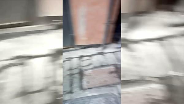 Fogna a cielo aperto alla Maddalena, i residenti: «Miasmi e vermi in strada, siamo disperati» | Video