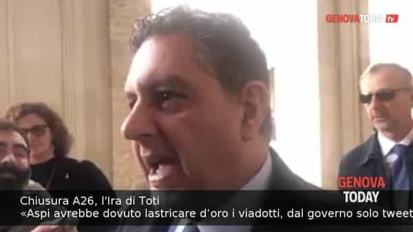 VIDEO | L'ira di Toti: «Aspi avrebbe dovuto lastricare d'oro i viadotti, dal governo solo tweet»