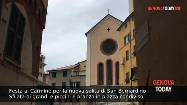 VIDEO | Carmine, sfilata e pranzo in piazza per la nuova salita San Bernardino