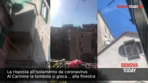 VIDEO   Coronavirus, al Carmine la tombola si gioca… alla finestra