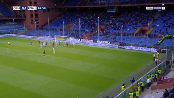 Video gol e sintesi partita Genoa-Roma 1-1, gol di El Shaarawy e Romero