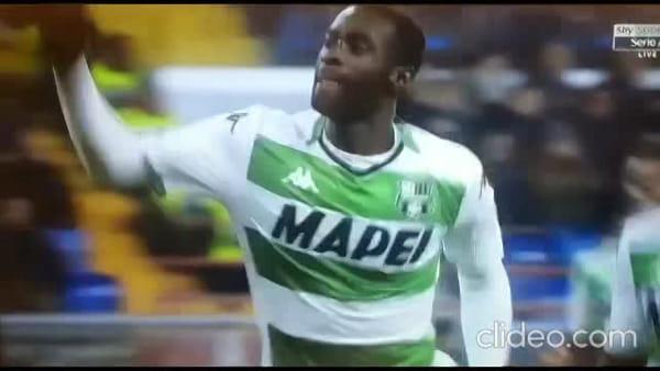 Video gol e sintesi partita Genoa-Sassuolo 2-1, gol di Criscito, Obiang e Pandev