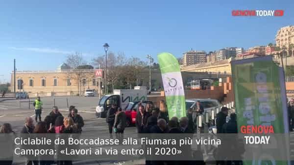 VIDEO | Ciclabile da Boccadasse alla Fiumara, Tursi: «Lavori al via nel 2020»