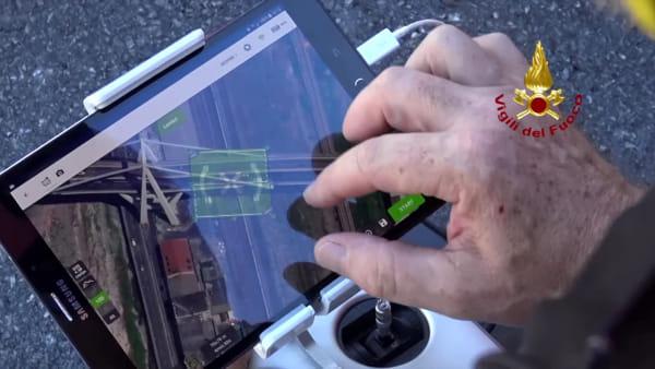 Ponte Morandi, viaggio nel cantiere visto dal drone. Video