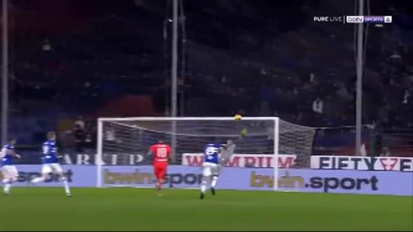 Video gol e sintesi partita Sampdoria-Udinese 2-1, gol di Nestorovski, Gabbiadini e Ramirez