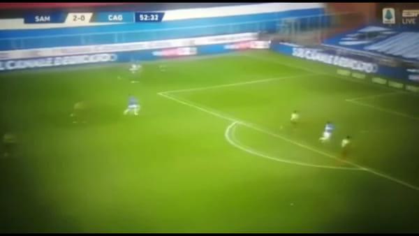 VIDEO | Gol e sintesi partita Sampdoria-Cagliari 3-0, gol di Gabbiadini e doppietta di Bonazzoli