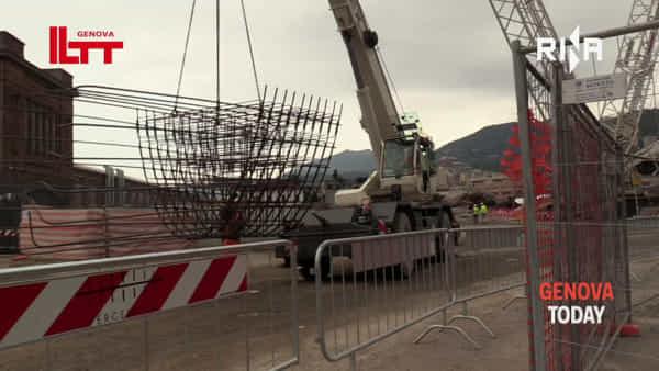 Nuovo ponte, si lavora alla prima campata: nuovo skyline entro i primi giorni di ottobre | Video