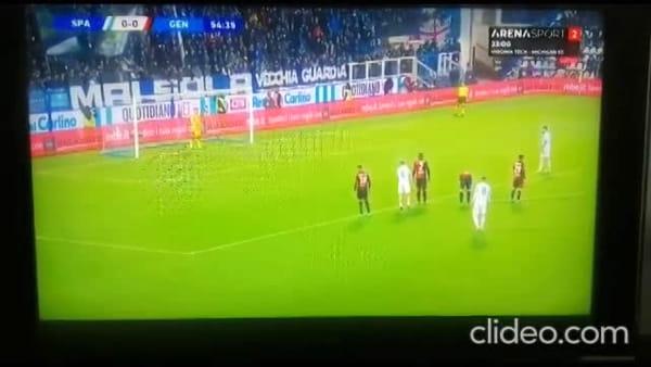 Video gol e sintesi partita Spal-Genoa 1-1, gol di Petagna e Sturaro