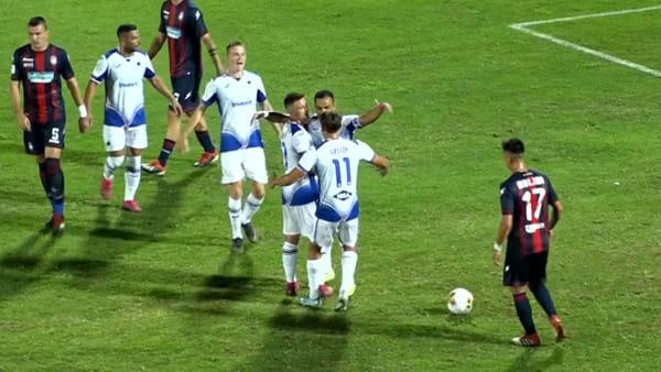 Video gol e sintesi partita Crotone-Sampdoria 1-3, gol di Caprari, Quagliarella e Maroni