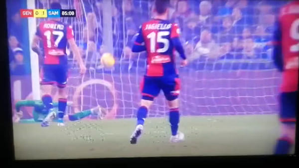 VIDEO | Genoa-Sampdoria 0-1: il gol di Gabbiadini celebrato alla Cattelan