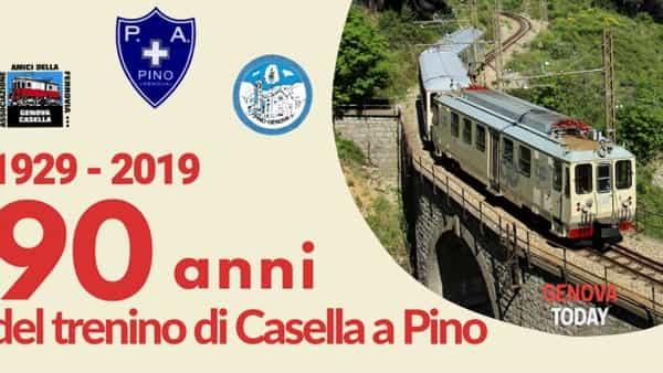 Pino festeggia i 90 anni del trenino di Casella con un viaggio nel passato