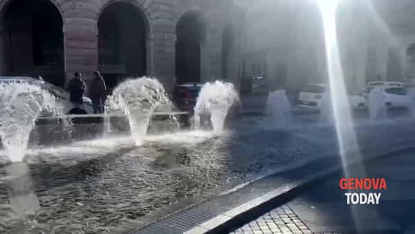 VIDEO | De Ferrari, tornano in funzione tutte le siepi d'acqua