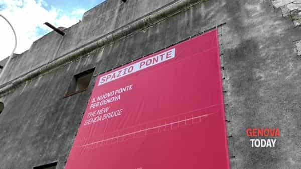 """Spazio Ponte, al Porto Antico un """"museo"""" dedicato al nuovo viadotto. Video"""