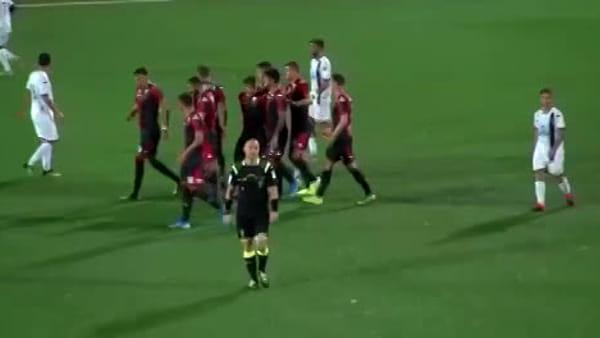 Genoa-Imolese 4-1: subito magia di Schone e gol di Saponara, poker all'esordio in Coppa