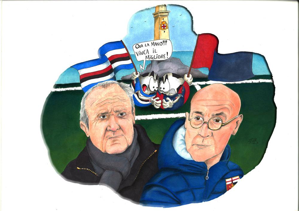 Genoa e Sampdoria, le vignette di Genova Today