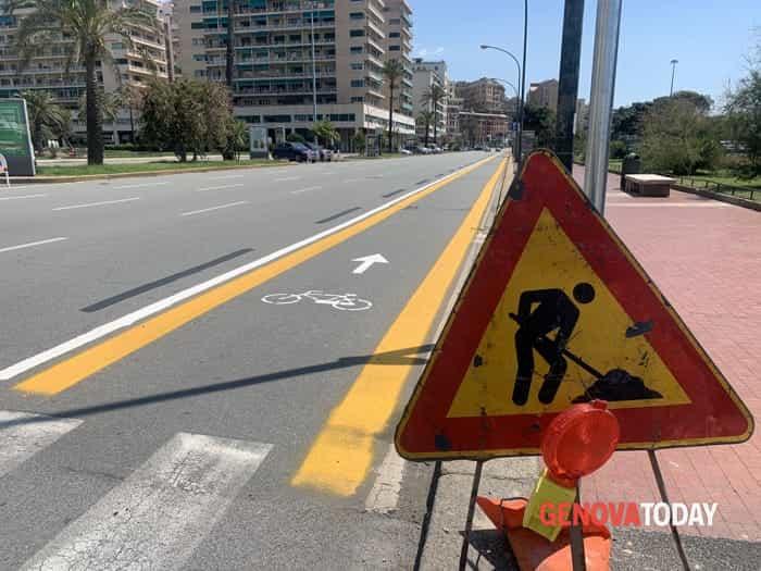 Pista ciclabile viale Brigate Partigiane - corso Italia